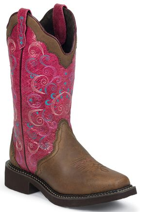 Justin Gypsy Bay Apache Cowgirl Boots - Square Toe, Bay Apache, hi-res