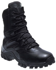Bates Men's Delta-8 Side Zip Work Boots - Soft Toe, Black, hi-res