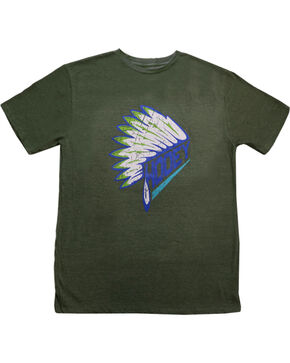 Hooey Boys' Headdress Graphic T-Shirt, Olive, hi-res