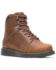 Wolverine Men's Brown Hellcat Waterproof Work Boots - Soft Toe, Brown, hi-res