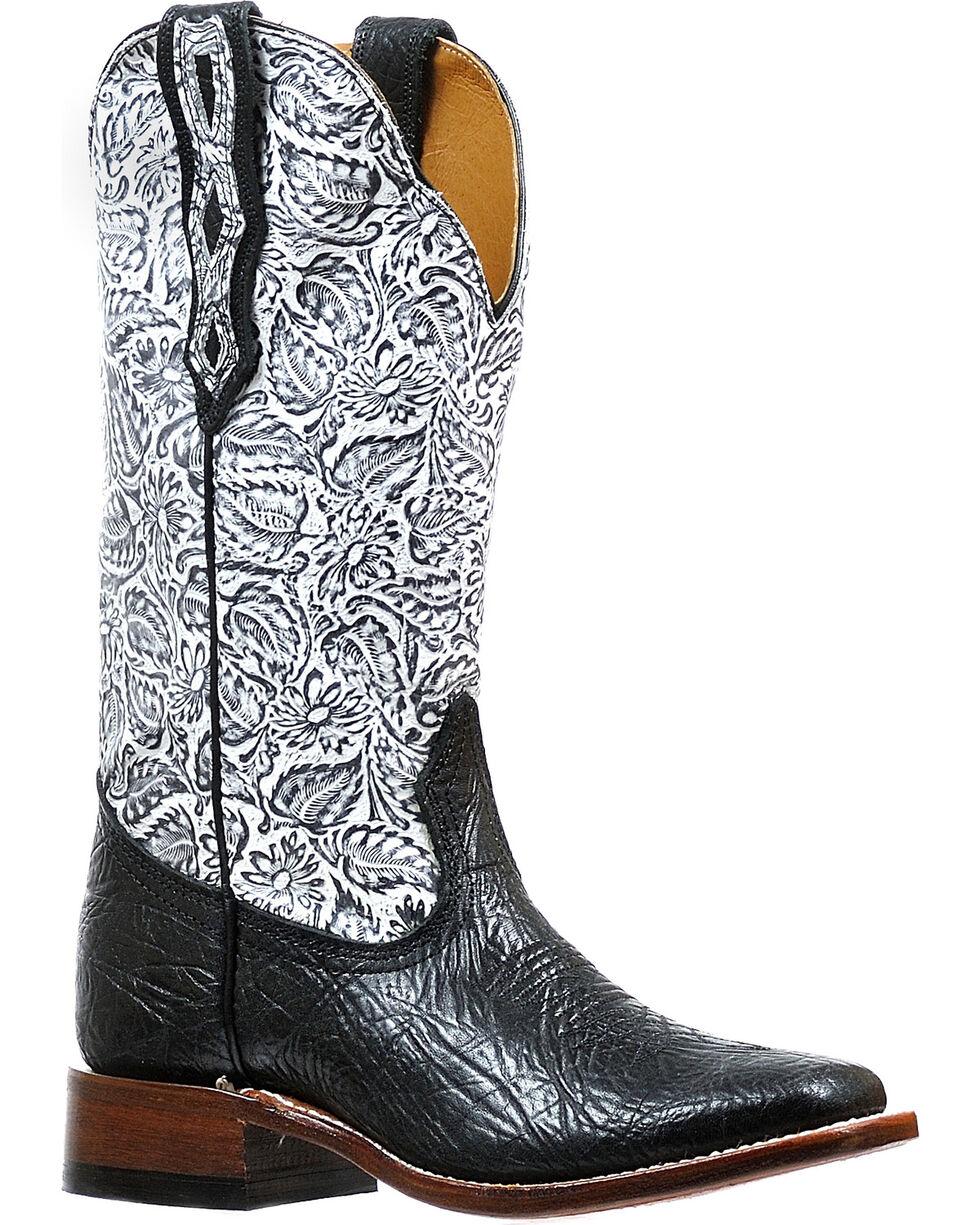 Boulet Women's Black Louisiana Daisy Boots - Square Toe , Black, hi-res