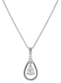 Montana Silversmiths Women's Catch the Rain Necklace , Silver, hi-res
