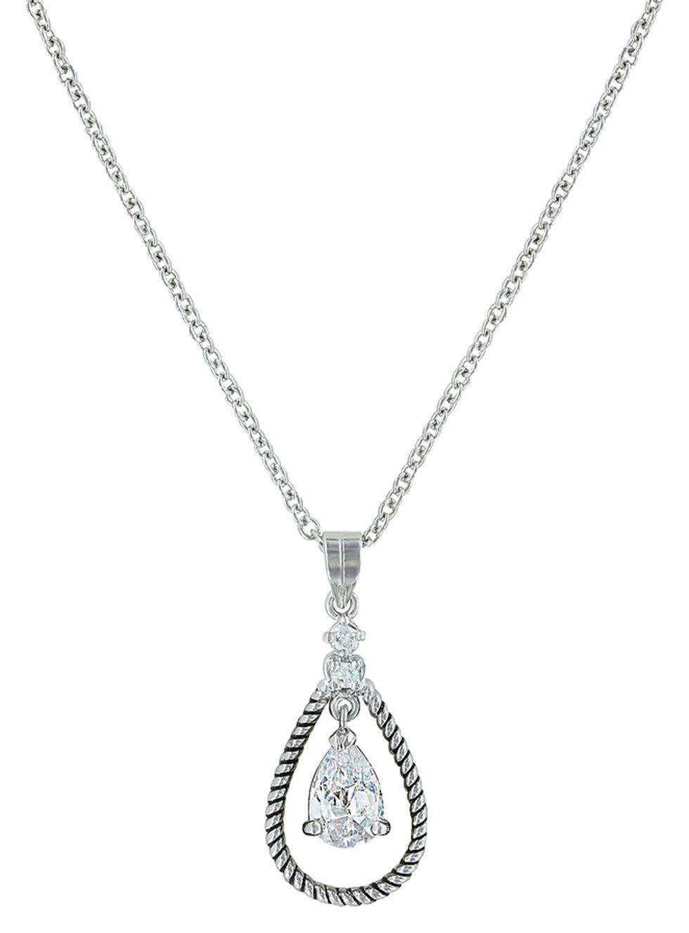 Montana Silversmiths Women's Catch the Rain Necklace , Silver, hi-res