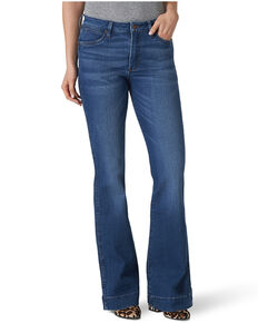Wrangler Retro Women's Blair Flare Leg Jeans, Blue, hi-res