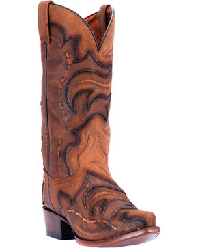 Dan Post Men's Brown Hensley Western Boots - Snip Toe , Tan, hi-res