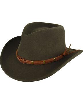 Bailey Women's Olive Hostler Wool Outback Hat , Olive, hi-res