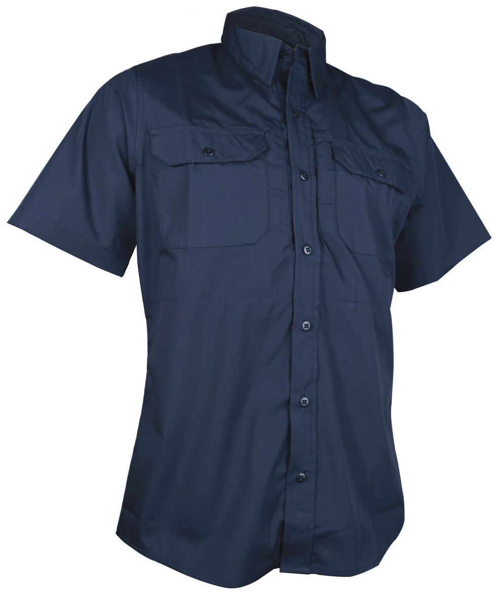 Tru-Spec Men's Navy 24-7 Short Sleeve Dress Shirt , Navy, hi-res