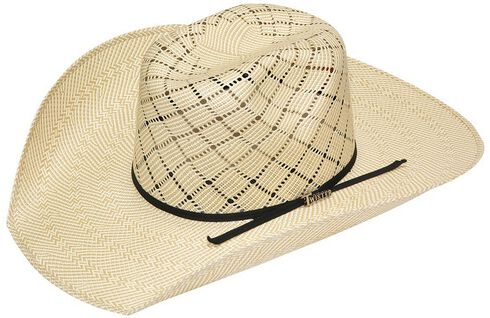 Twister 10X Shantung Twister Crown Straw Cowboy Hat, Natural, hi-res