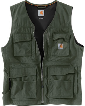 Carhartt Men's Briscoe Vest - Big & Tall, Moss, hi-res
