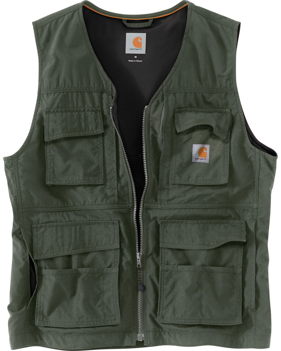 Carhartt Men's Briscoe Vest - Big & Tall, Moss, hi-res