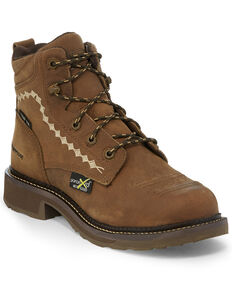 Justin Women's Lanie Waterproof Work Boots - Composite Toe, Brown, hi-res