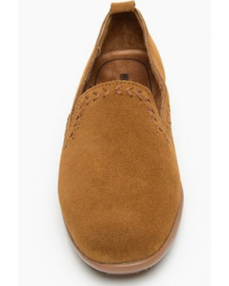 Minnetonka Women's Shay Suede Slip-On Shoes - Round Toe, Brown, hi-res