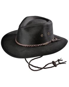 Outback Trading Co. Grizzly Oilskin Hat, Black, hi-res