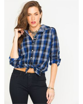 White Crow Women's Skie Plaid Shirt, Sapphire, hi-res