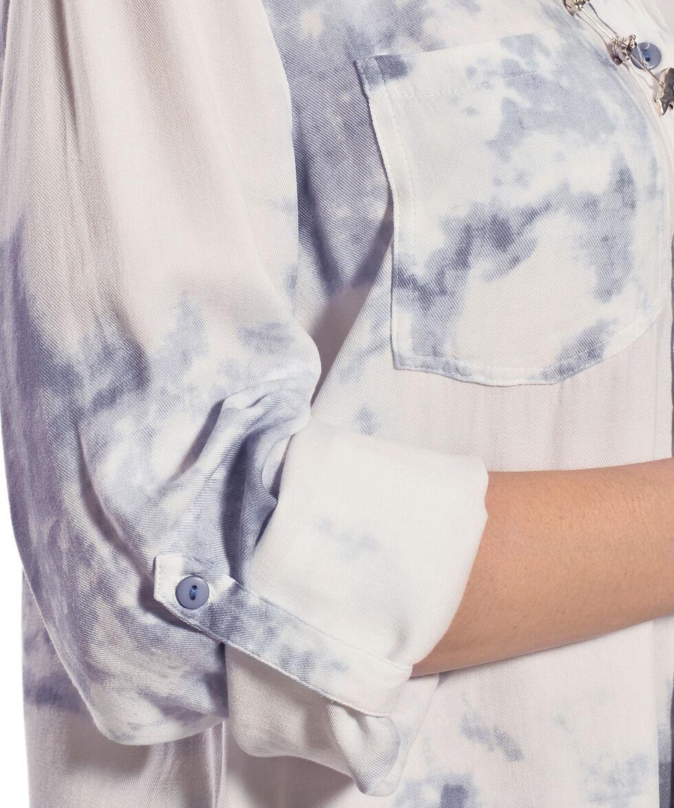 New Direction Sport Women's Blue Tie Dye Top, , hi-res