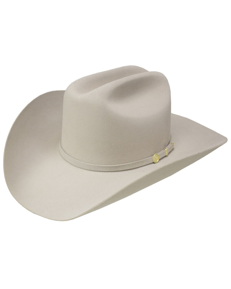 Stetson Men's El Presidente 100X Premier Fur Felt Hat, Silver Belly, hi-res