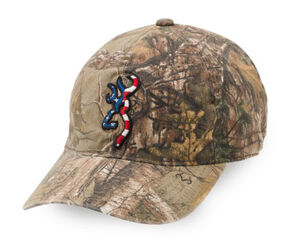 Browning Men's Patriotic Realtree Xtra Mesh Back Cap, Camouflage, hi-res