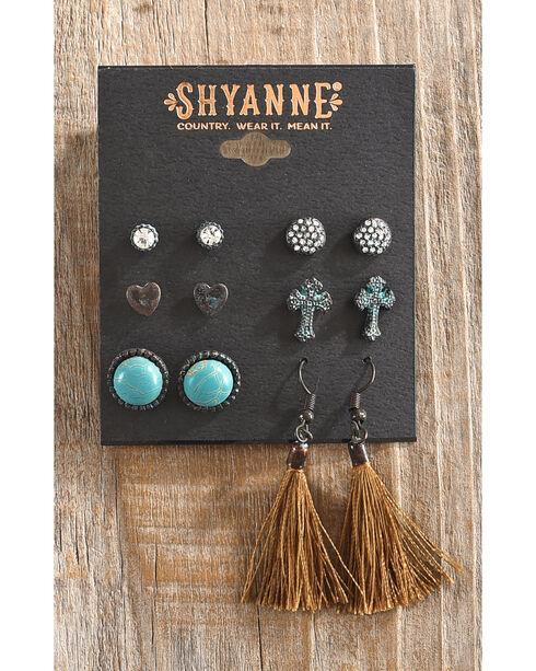 Shyanne Women's Odessa Multi-Stud Earring Set, Turquoise, hi-res