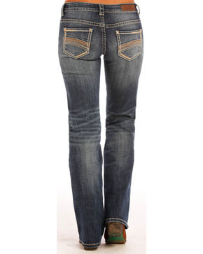 Rock & Roll Cowgirl Women's Blue Riding Jeans - Boot Cut , Blue, hi-res