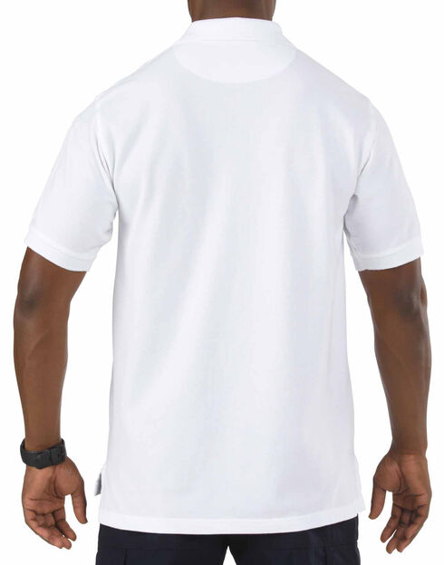 5.11 Tactical Professional Short Sleeve Polo Shirt, White, hi-res