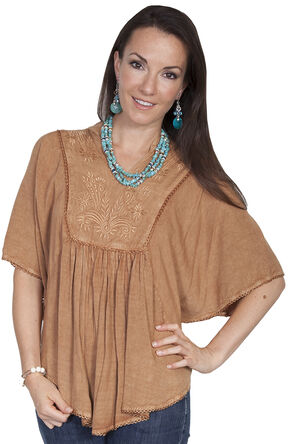 Scully Women's Poncho Blouse, Beige, hi-res