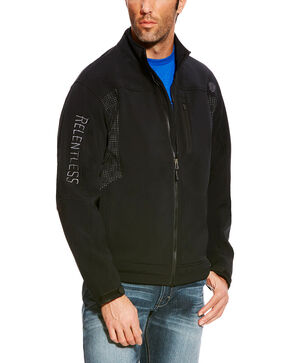 Ariat Men's Black Relentless Willpower Softshell Jacket , Black, hi-res