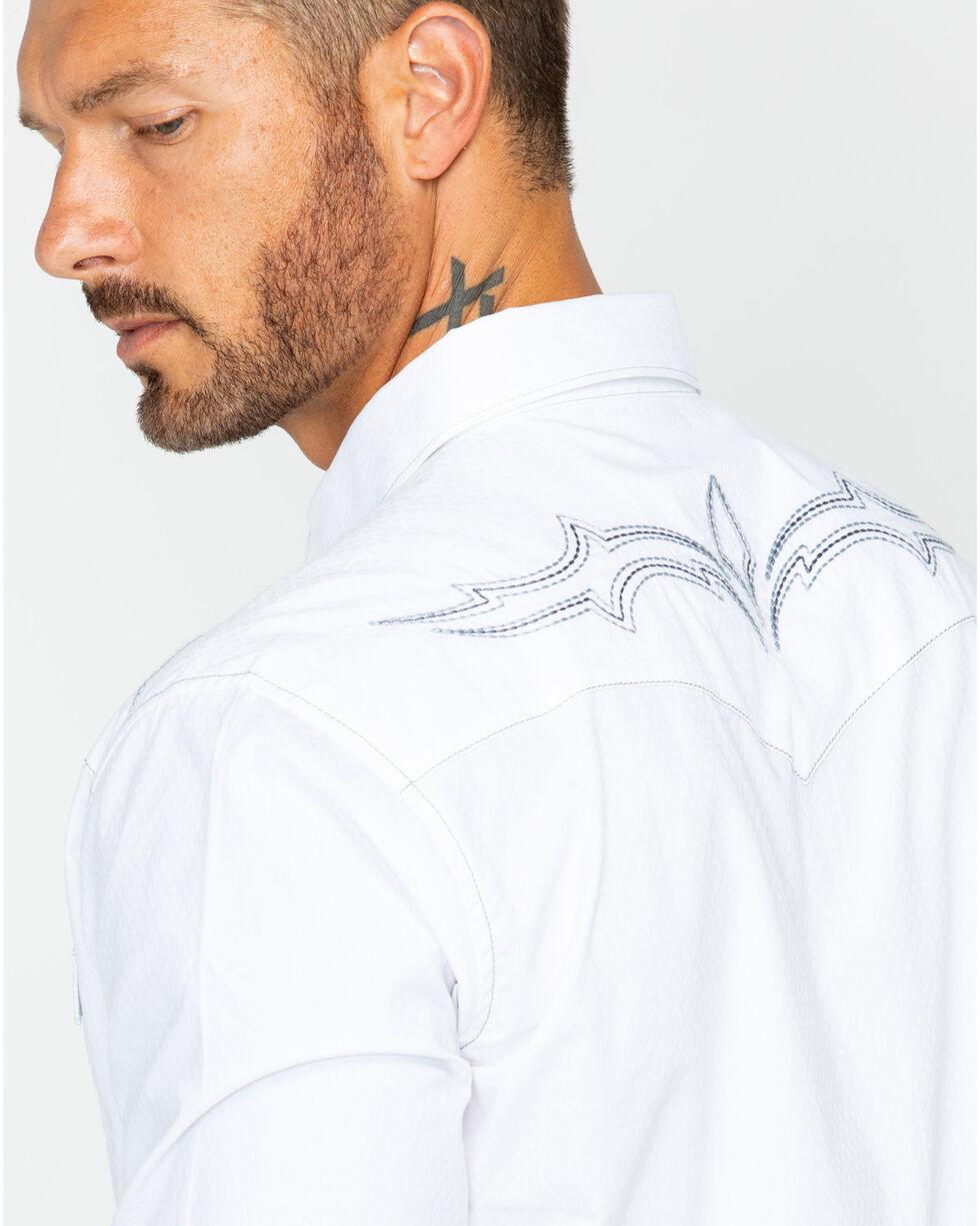 Wrangler Rock 47 Men's White Fancy Yoke Shirt , White, hi-res