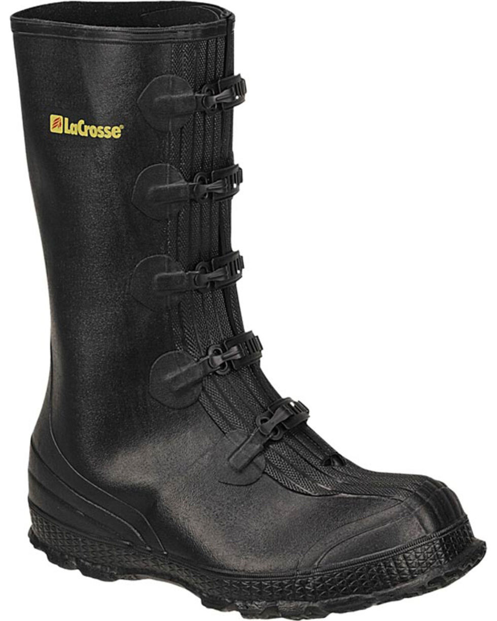 LaCrosse Men's Z-Series Overshoe Rubber Boots - Round Toe , Black, hi-res