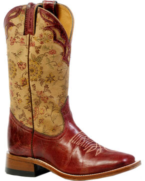 Boulet Women's Puma Rojo Cowgirl Boots - Square Toe, Red Oak, hi-res