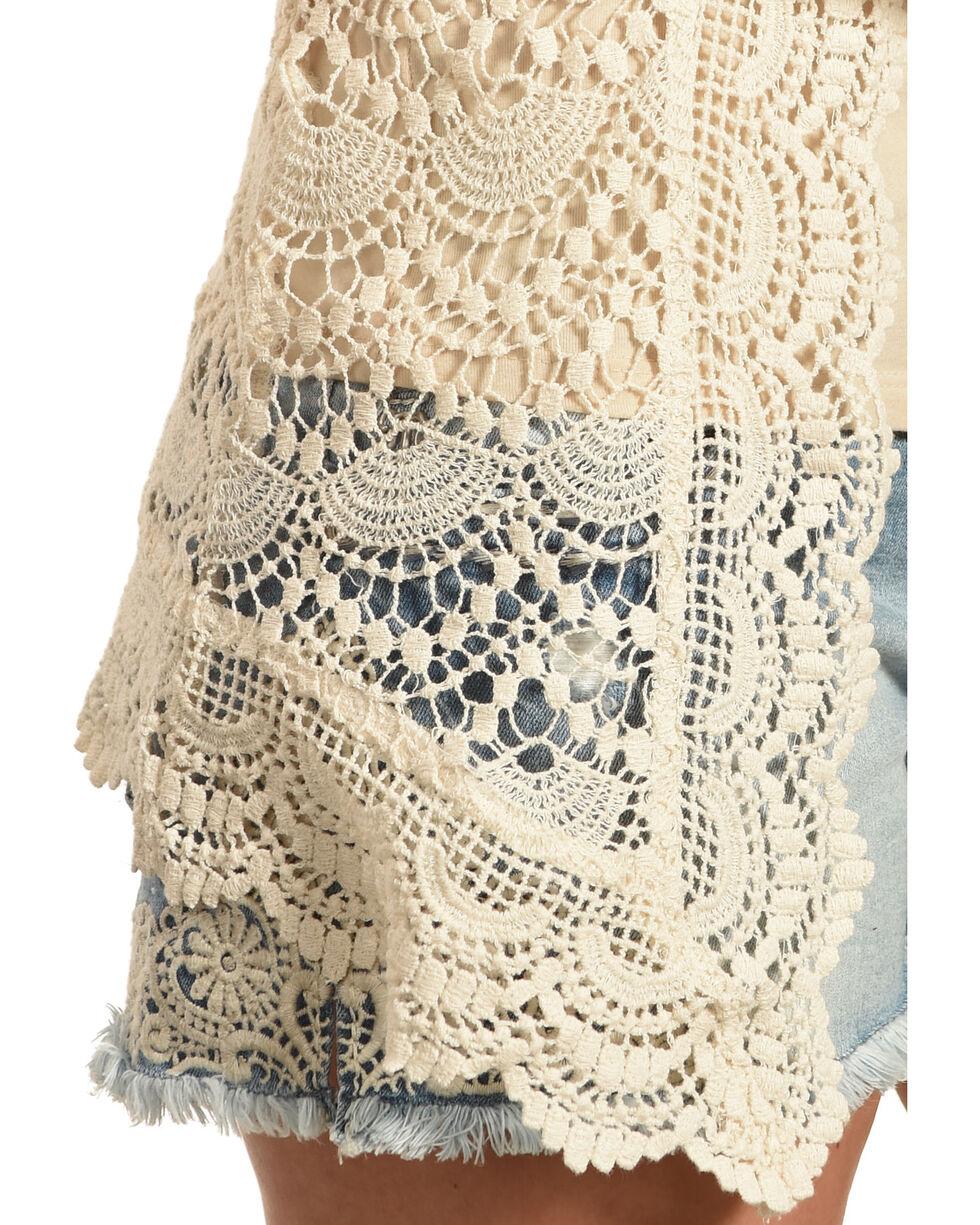 Young Essence Women's Long Sleeve Lace Cardigan , Beige/khaki, hi-res