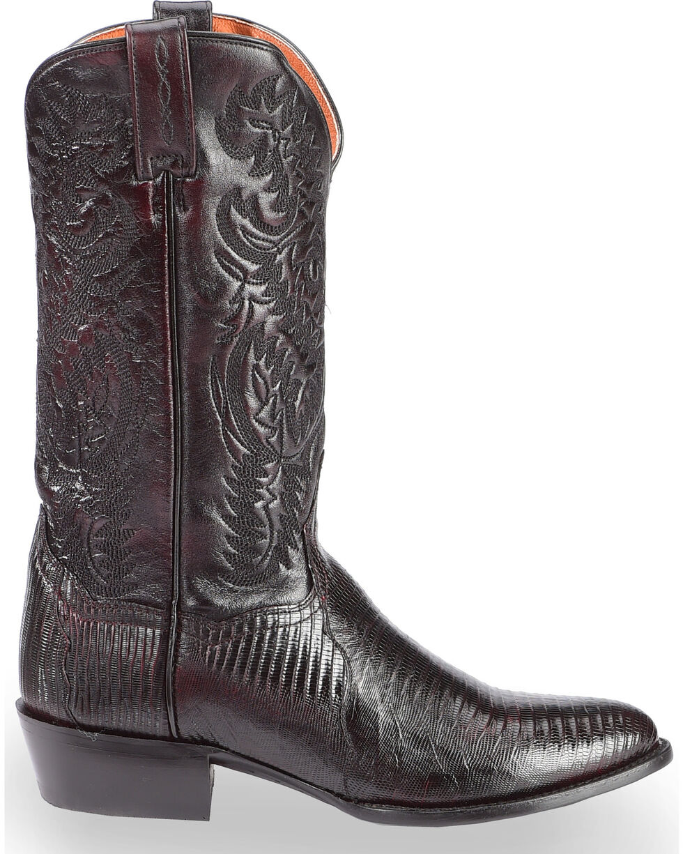 Dan Post Raleigh Cherry Lizard Cowboy Boots - Medium Toe  , Black Cherry, hi-res