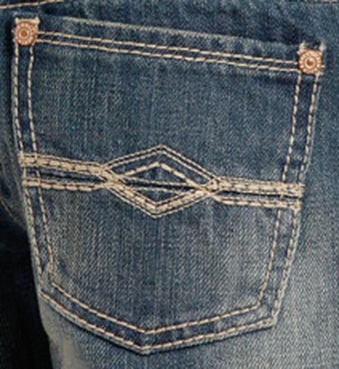 """Rock & Roll Cowboy Boys' Indigo """"A"""" Embroidery Running Stitch Jeans - Boot Cut, Indigo, hi-res"""