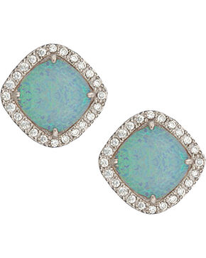 Montana Silversmiths River Lights Pools in Winter Post Earrings, Blue, hi-res