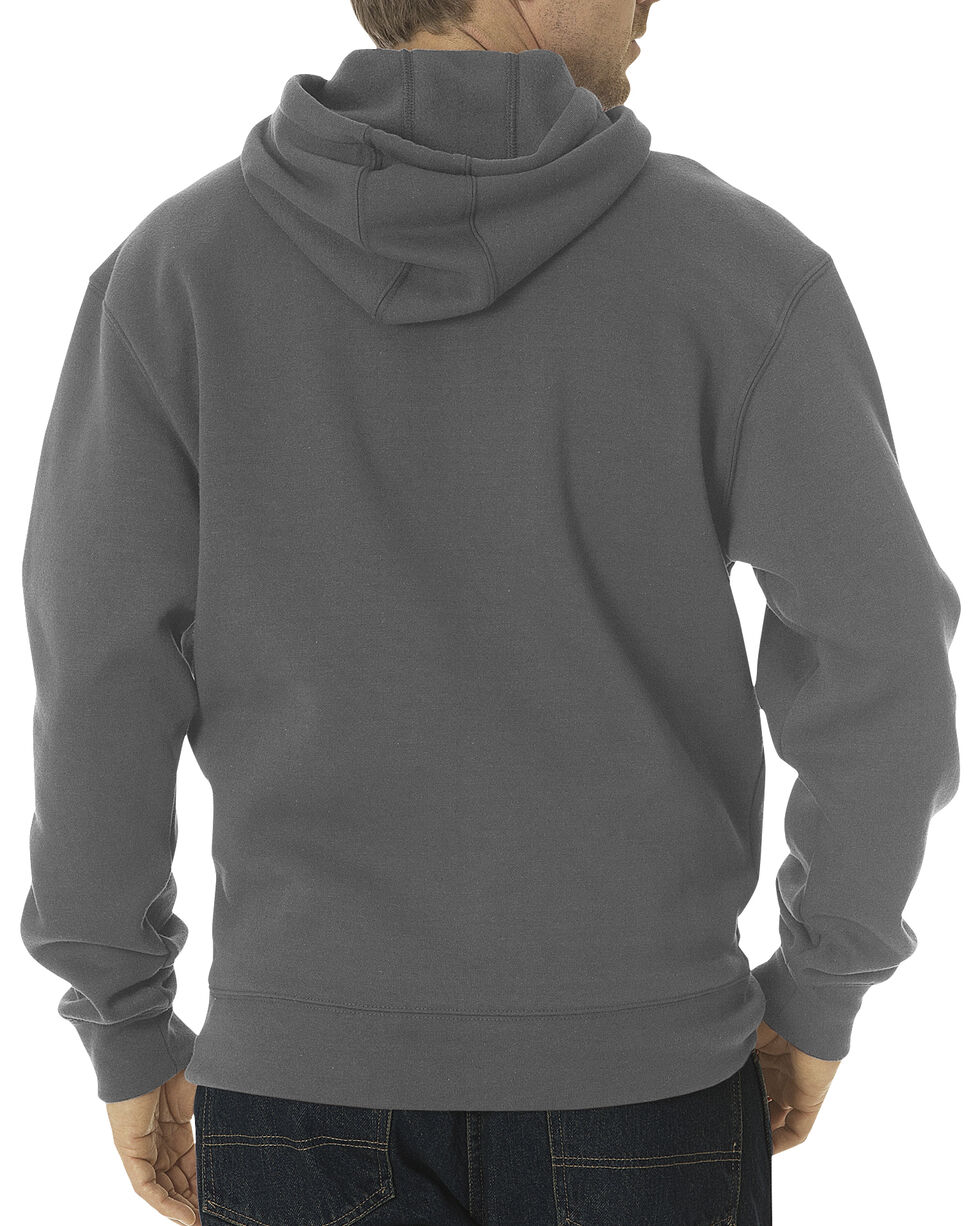 Dickies Midweight Fleece Work Hoodie - Big & Tall, Dark Grey, hi-res