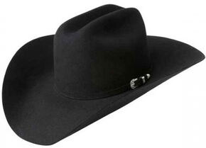Bailey Men's Pro 5X Wool Felt Cowboy Hat, Black, hi-res