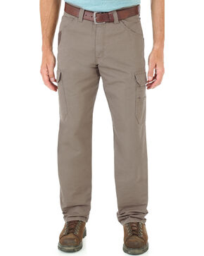 Wrangler Men's Cool Vantage Ripstop Cargo Pants, Bark, hi-res