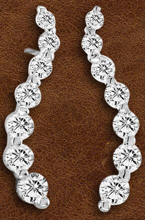 Kelly Herd Sterling Silver Journey Earrings , Silver, hi-res