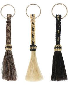 M&F Western Braided Horse Hair Key Chain , No Color, hi-res