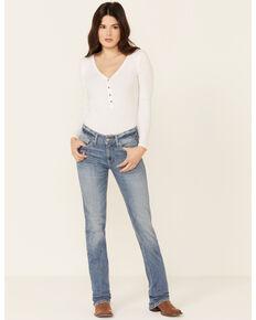 Ariat Women's Karen Mid-Rise Straight Leg Jeans, Light Blue, hi-res