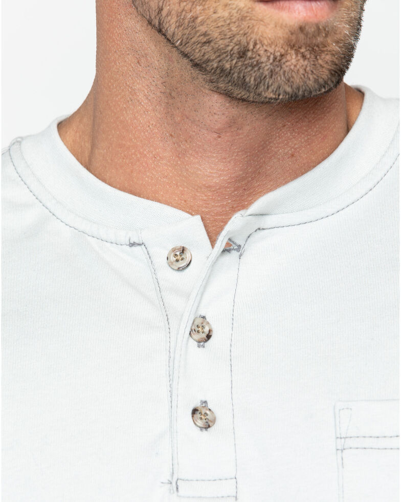 Carhartt Men's FR Solid Long Sleeve Work Henley Shirt - Big & Tall, Lt Grey, hi-res