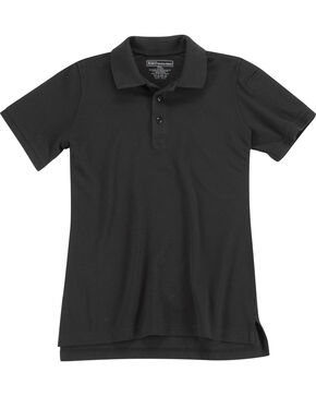 5.11 Tactical Womens Utility Short Sleeve Polo, Black, hi-res