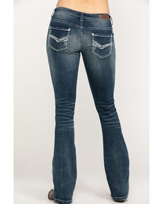 Rock & Roll Cowgirl Women's Signature Pocket Rival Boot Jeans , Blue, hi-res
