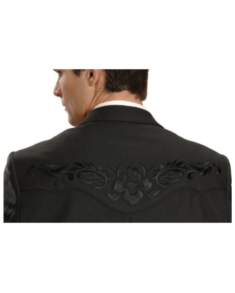 Scully Black Floral Embroidered Western Jacket, Black, hi-res