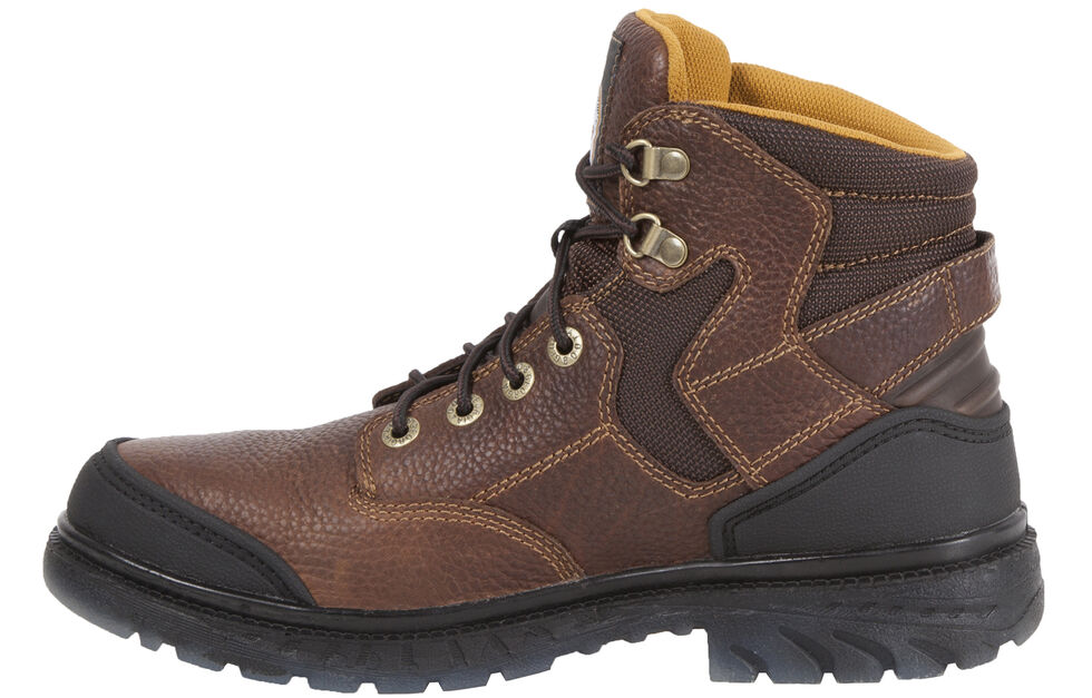 """Georgia Boots Zero Drag 6"""" Lace-Up Work Boots - Steel Toe, Brown, hi-res"""