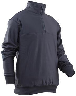 Tru-Spec Men's Grid Fleece Zip Thru Job Shirt - Extra Large (2XL - 3XL), Navy, hi-res