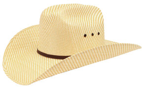 Ariat Childrens' Double S Straw Cowboy Hat, Natural, hi-res