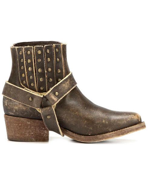 Corral Women's Harness and Studs Short Boots - Narrow Square Toe, Cognac, hi-res
