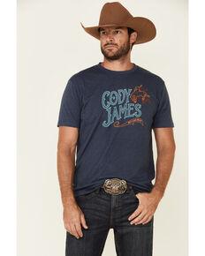 Cody James Men's Navy Western Saloon Graphic Short Sleeve T-Shirt , Navy, hi-res