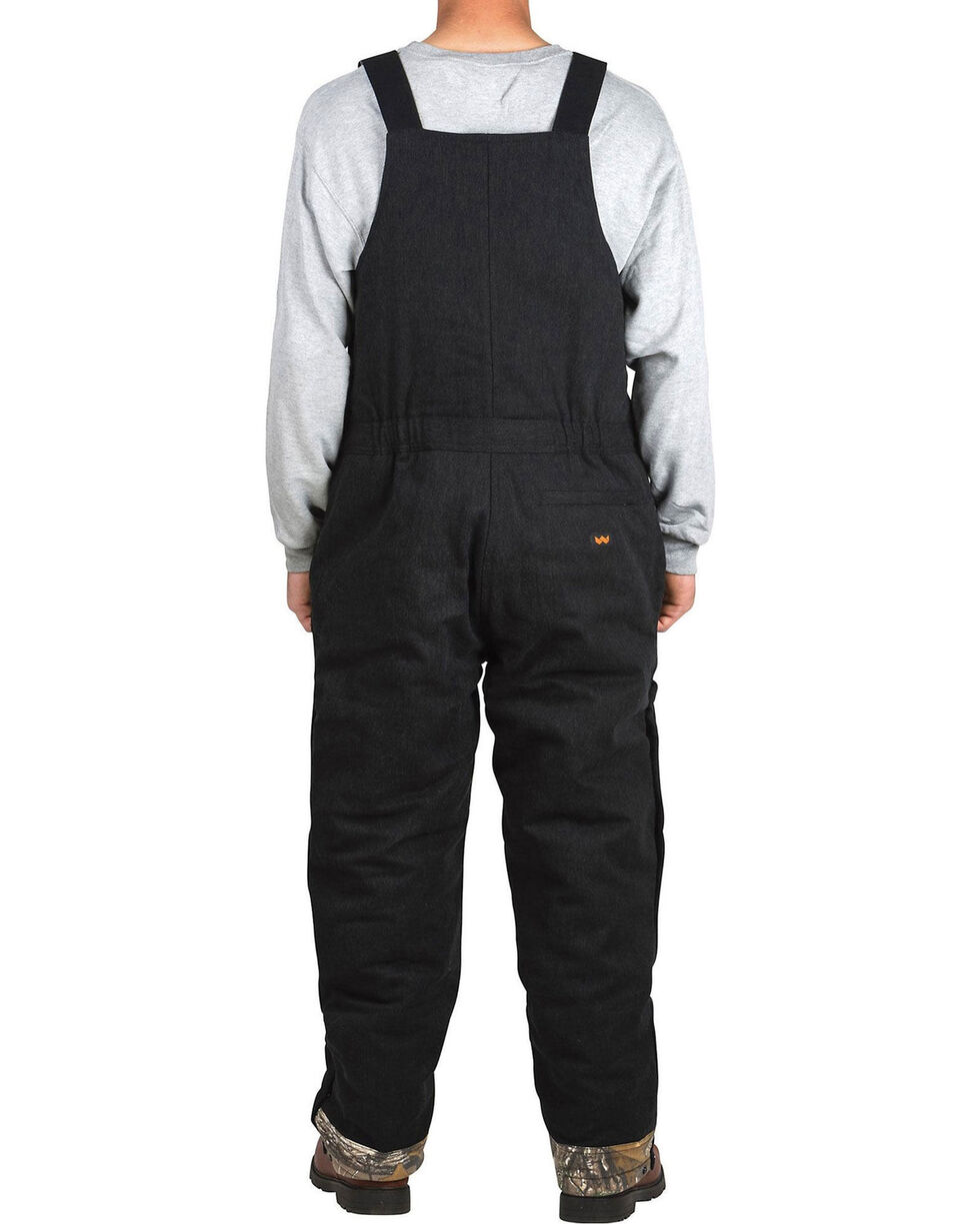 Walls Men's Industry Bib Kevlar Overalls , Black, hi-res