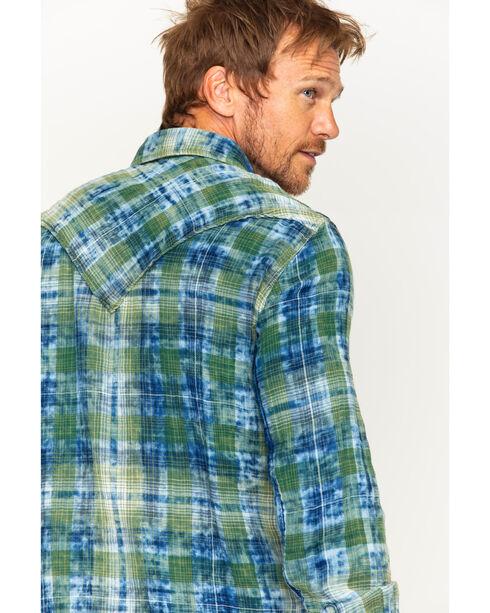 Ryan Michael Men's Sequoia Double Face Plaid Western Shirt , Indigo, hi-res